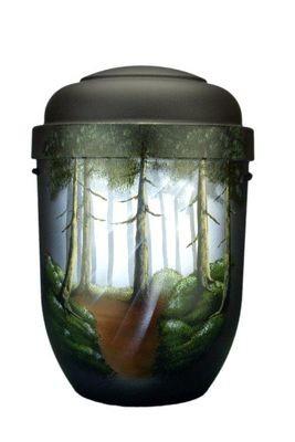Naturstoffurne dunkelgrün, Motiv: Waldstimmung