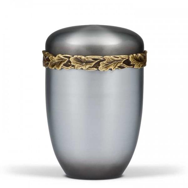 Stahlurne Ziehesta patina, Eichenlaubfries Messing US500R