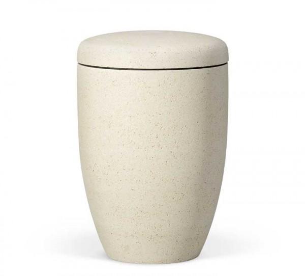 Naturstoffurne steinbeschichtet marmorit-weiss