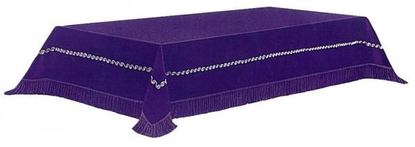 Katafalkdecke aus lila Samt