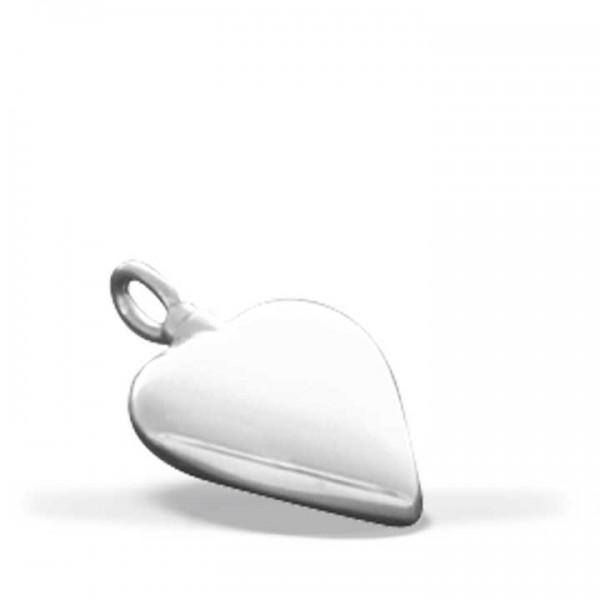 Silbermedaillon Herz