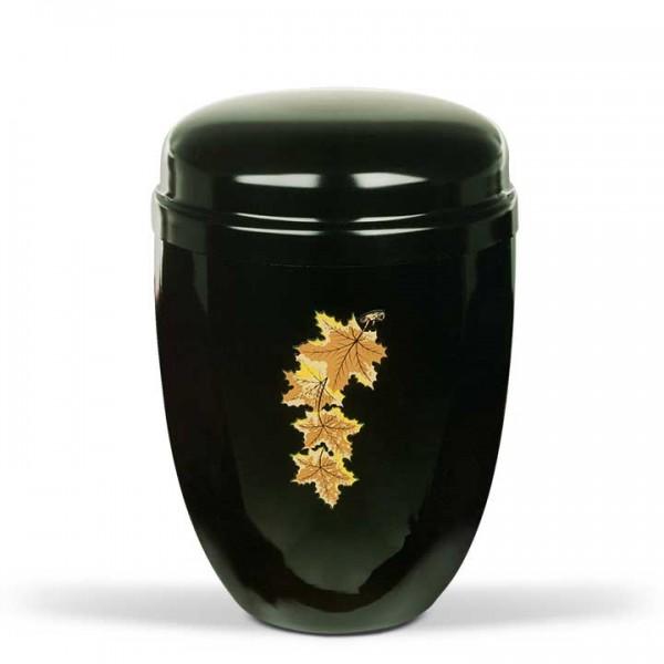 Stahurne schwarz mit Dekor Ahornblätter US880AB