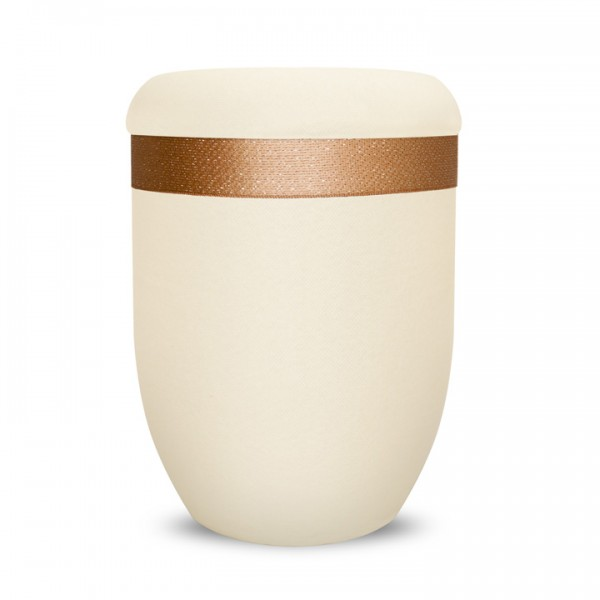 Urncape Creme Basic Bordüre Cappuccino
