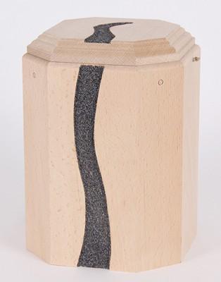 "Gutenberger-Urne aus Buche ""Linea Mohngrau"", Linea-01"