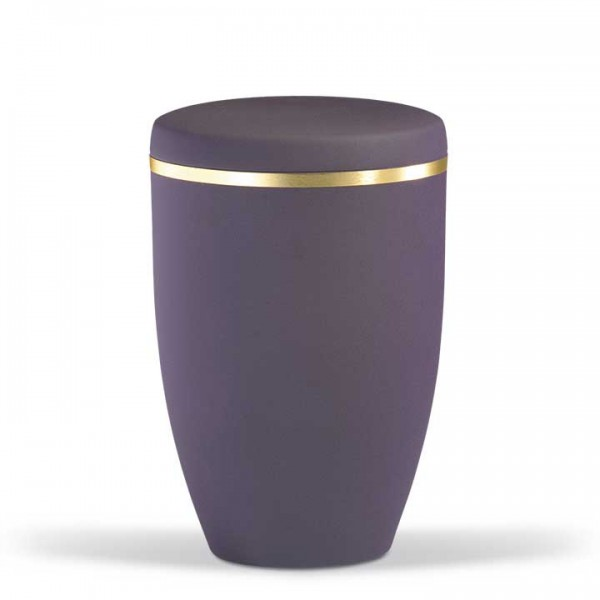 Stahlurne braun-violett mit Goldband US6230