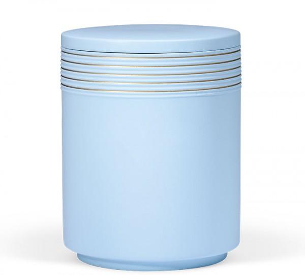 Seeurne atlantikblau mit Verzierungen in gold