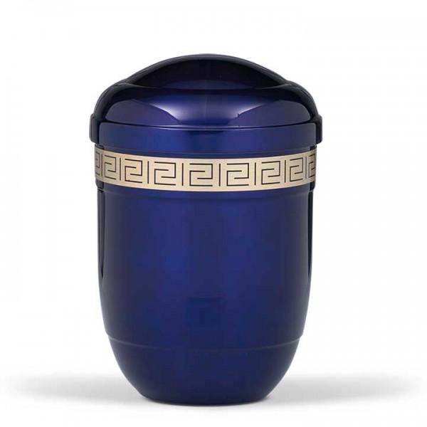 Stahlurne kobaltblau, Dekorband Mäander US620KK