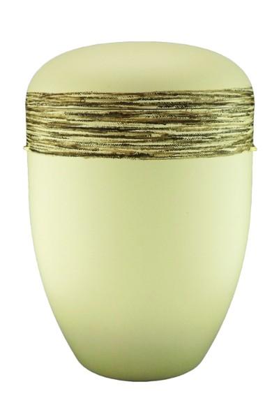 Naturstoffurne elfenbein, Kordeloptik