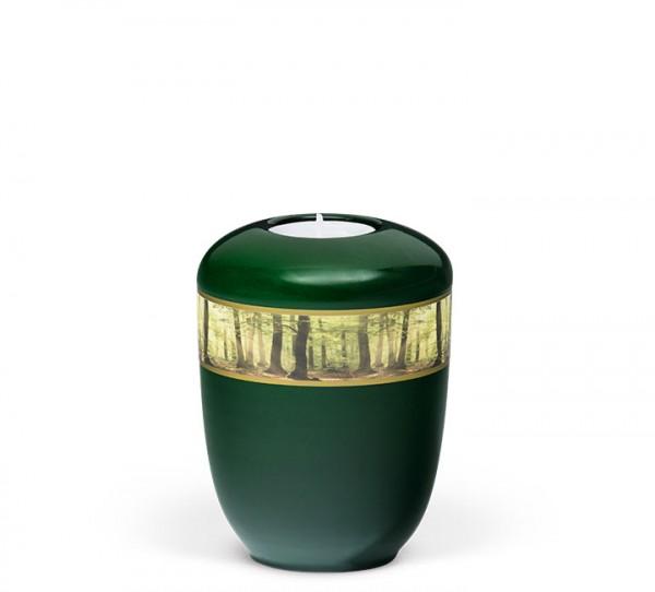 """Gedenkurne moosgrün aus Keramik """"Waldlichtung"""""""