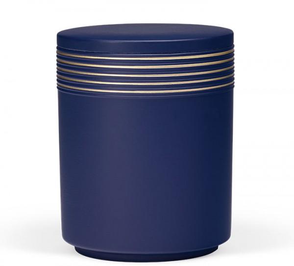 Seeurne saphirblau mit Verzierungen in gold