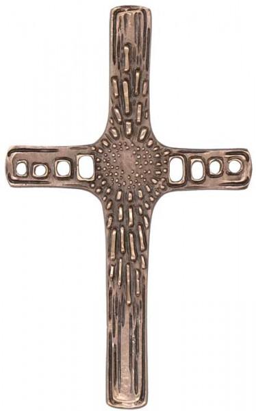 Schmuckkreuz aus Bronze, durchbrochen