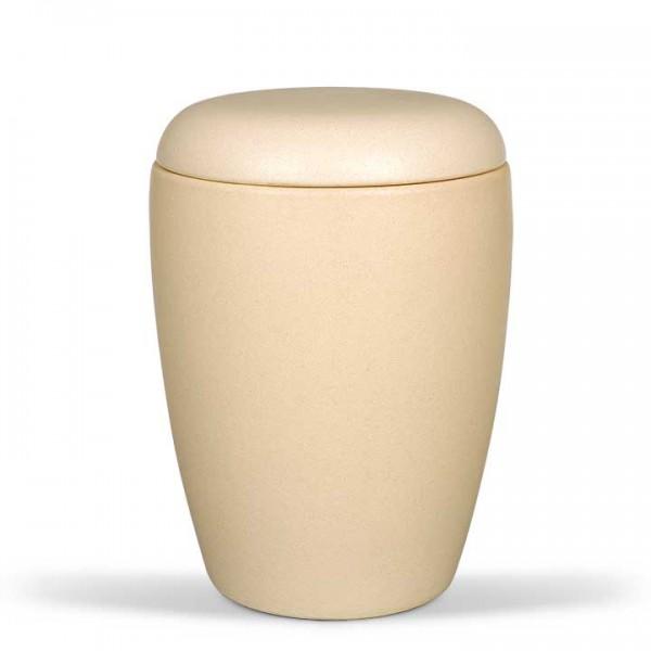 Keramikurne sandfarbig glasiert US9325