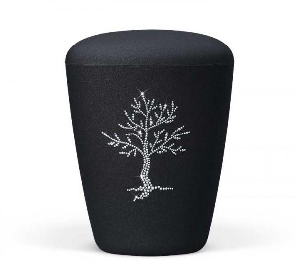 Naturstoffurne anthrazit velours, Lebensbaum