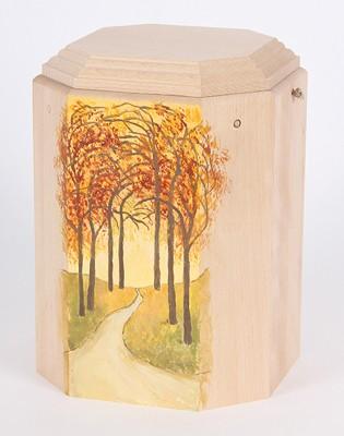 """Gutenberger-Urne aus Buche """"Imago"""" Motiv Herbstwald"""