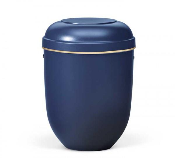 Naturstoffurne nachtblau mit Goldband