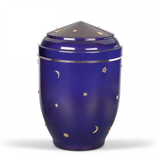 """Kleinurne Stahlblech kobalt-blau """"Sonne, Mond und Sterne"""""""
