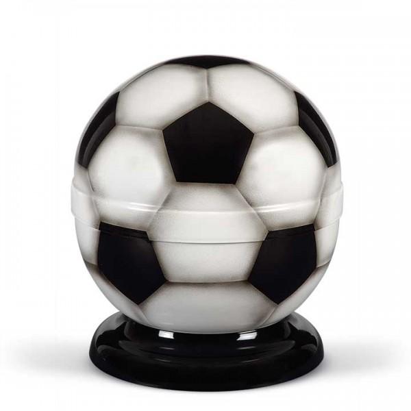 """Stahlurne """"Fußball"""" schwarz-weiß"""