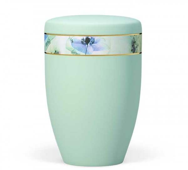 "Stahlurne mintgrün velours ""Floral"" US6385"
