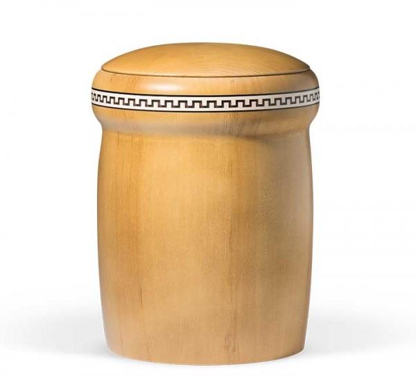 Holzurne Kiefer honigfarben gebeizt mit Intarsien US922N