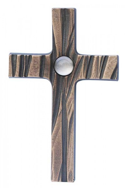 Bronzekreuz mit Bergkristall