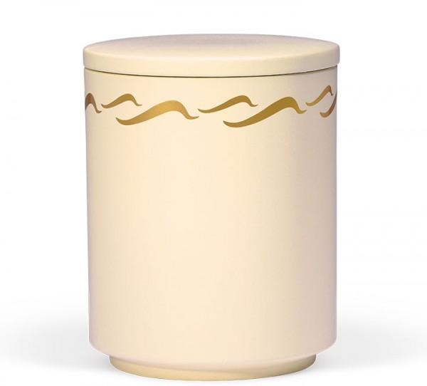 Seeurne sandbeige mit Wellendekor gold