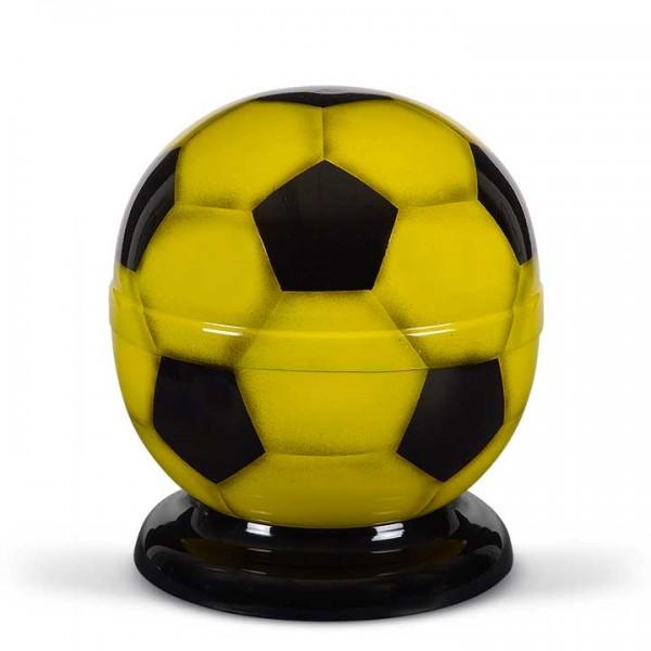 Fußball-Urne gelb-schwarz