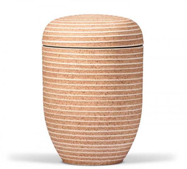 Naturstoffurne Carmat steinbeschichtet terracotta