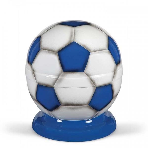 Fußball-Urne blau-weiß