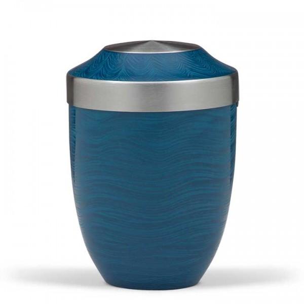 Stahlurne Durocit-Blau Steinoberfläche