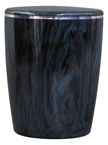 Urne marmoriert kobaltblau