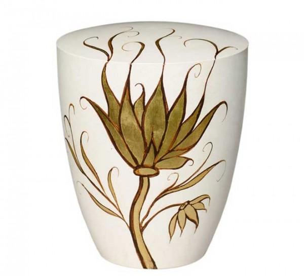 Urne Genesis Cremeweiß mit Feuerlilie
