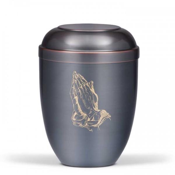 Cupatanurne dunkel galvanisch, Betende Hand USC510-1H