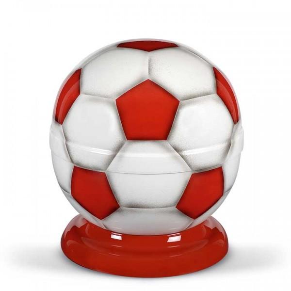 Fußball-Urne rot-weiß