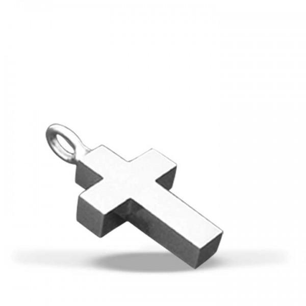 Silbermedaillon Kreuz