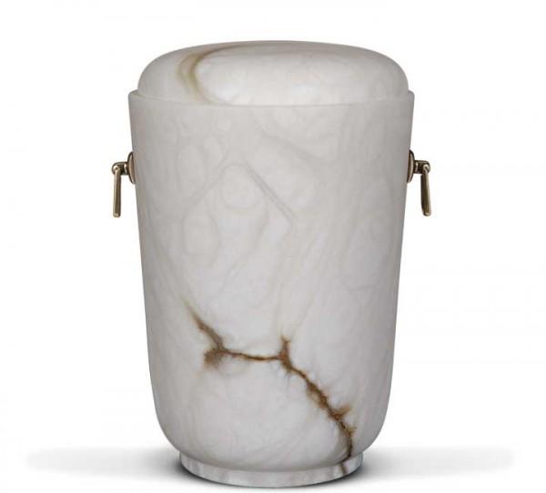 Alabasterurne weiß, runder Deckel