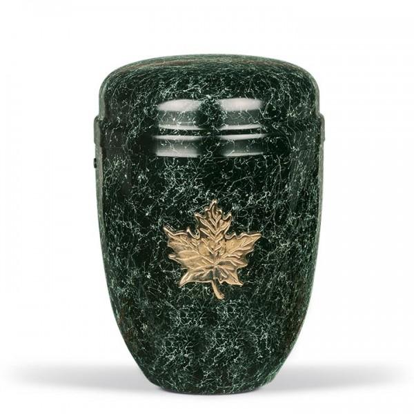Urne grün patiniert mit diversen Ornamenten