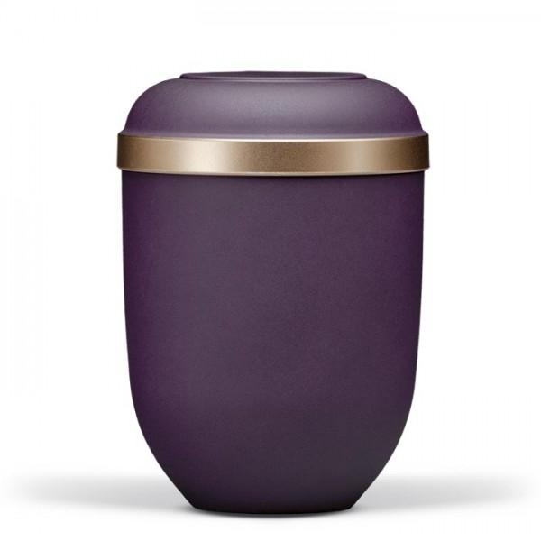 Bio-Urne violett-velour, Goldrand