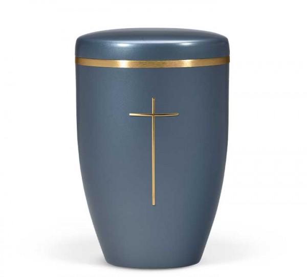 Naturstoffurne blau perlmutt, Stripdome Kreuz