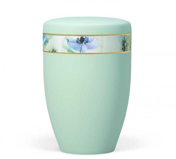 """Naturstoffurne mintgrün mit Dekorband """"Floral Farblich"""""""