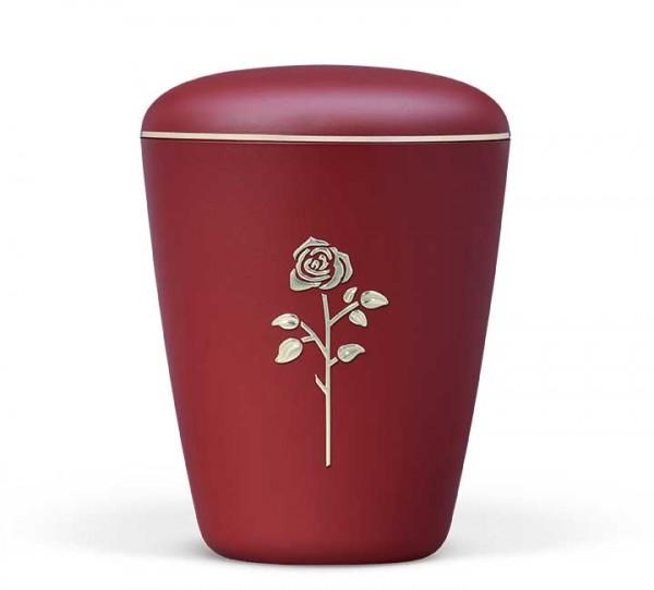 Naturstoffurne weinrot velours, Rose Stripdome