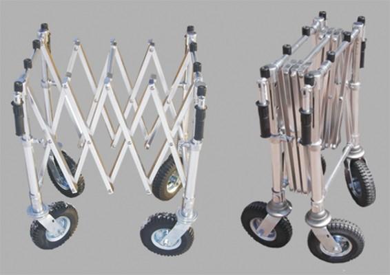 Scherenwagen einstellbar mit luftbereiften Rädern