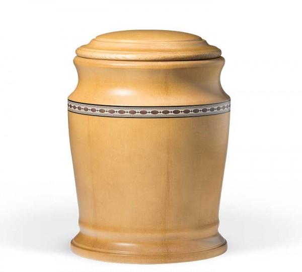 Kiefernurne honigfarben gebeizt mit Intarsien US921N